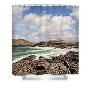 Valentia Island Lighthouse Shower Curtain