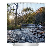 Valley Creek Waterfall - Valley Forge Pa Shower Curtain