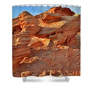 Valley Of Fire Arch At Sunrise Shower Curtain