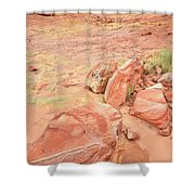 Valley Of Fire's Wash 3 Shower Curtain