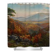 Valley Of The Catawissa In Autumn Shower Curtain
