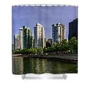 Waterfront Of Vancouver, Canada Shower Curtain