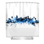 Vancouver Canada Skyline Panoramic Shower Curtain