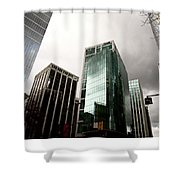 Vancouver Skyline Canada Shower Curtain
