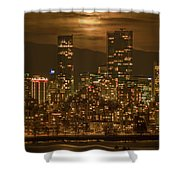 Vancouver's Supermoon Shower Curtain