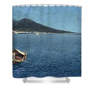 Veduta Del Vesuvio Shower Curtain