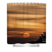 Veiled Sunrise Shower Curtain