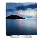 Veli Osir Island At Dawn, Losinj Island, Croatia. Shower Curtain