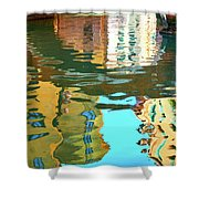 Venetian Mirror - Venice In Water Reflections Shower Curtain