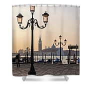 Venice At Sunset Shower Curtain
