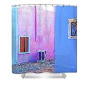 Venice Burano Village Shower Curtain