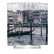 Venice Channels Shower Curtain
