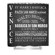 Venice Famous Landmarks Shower Curtain