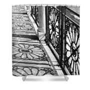 Venice Fence Shadows Shower Curtain
