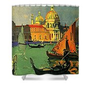 Venice, Italy, Gondolas Shower Curtain