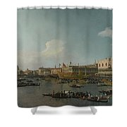Venice   The Basin Of San Marco On Ascension Day Shower Curtain
