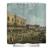 Venice   The Doges Palace And The Riva Degli Schiavoni Shower Curtain