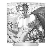 Venus And Cupid Shower Curtain