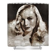 Veronica Lake Vintage Hollywood Actress Shower Curtain