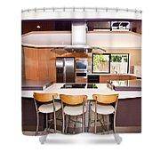 Very Modern Kitchen Shower Curtain