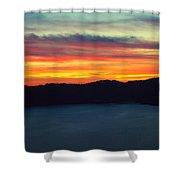 Vibrant Skies  Shower Curtain