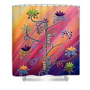 Vibrant Tree Of Life Shower Curtain