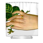 Victorian Hand And Rose Shower Curtain