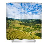 Vietnam Rice Terraces Shower Curtain