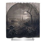 View From Greenwood Cemetery Shower Curtain