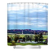 View From Longstreet Tower Shower Curtain