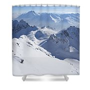 View From Summit Of Valluga, St Saint Anton Am Arlberg Austria Shower Curtain