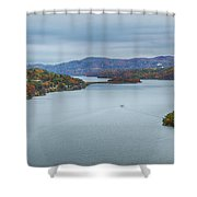 View From The Bear Mountain Bridge Shower Curtain