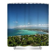 View Of Boracay Island Tropical Coastline In Philippines Shower Curtain