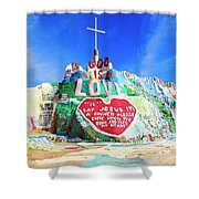 View Of Salvation Mountain Shower Curtain