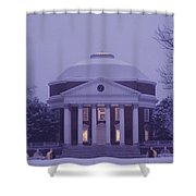 View Of The University Of Virginias Shower Curtain
