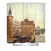 View On A River Shower Curtain