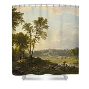 View Toward The Hudson Valley Shower Curtain