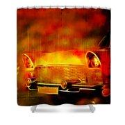 Vintage Car 2 Neons Edition Shower Curtain