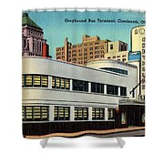 Vintage Cincinnati Postcard Shower Curtain