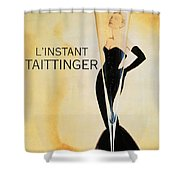 Vintage French Champagne Shower Curtain