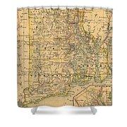 Vintage Map Of Rhode Island  Shower Curtain