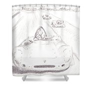 Vintage Motor Sport Shower Curtain