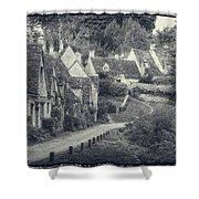 Vintage Photo Effect Medieval Arlington Row In Cotswolds Country Shower Curtain