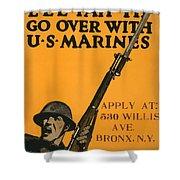 Vintage Recruitment Poster Shower Curtain