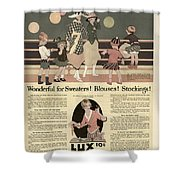 Sweaters Blouses And Stockings Vintage Soap Ad Shower Curtain