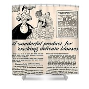 Washing Delicate Blouses Vintage Soap Ad  Shower Curtain
