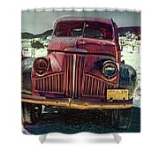 Vintage Studebaker Truck Shower Curtain