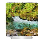 Vintgar Gorge Shower Curtain