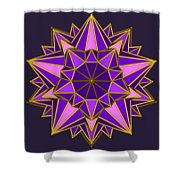 Violet Galactic Star Shower Curtain