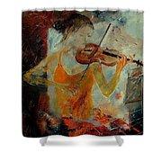 Violinist 67 Shower Curtain